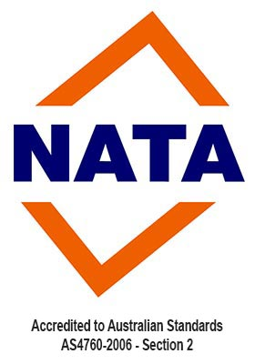 NATA - Accredited to Australian Standards AS4760-2006