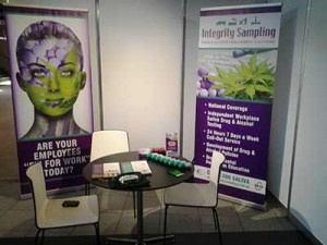 Integrity Sampling's stand at the Australian Logistics Council Forum, being held in Melbourne