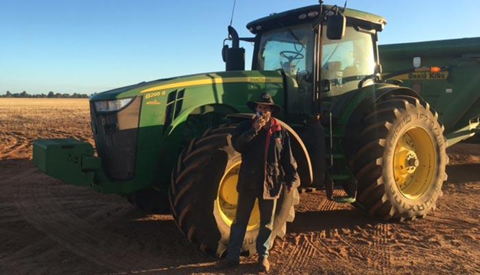 A farm employee undertakes drug testing in regional Western Australia.