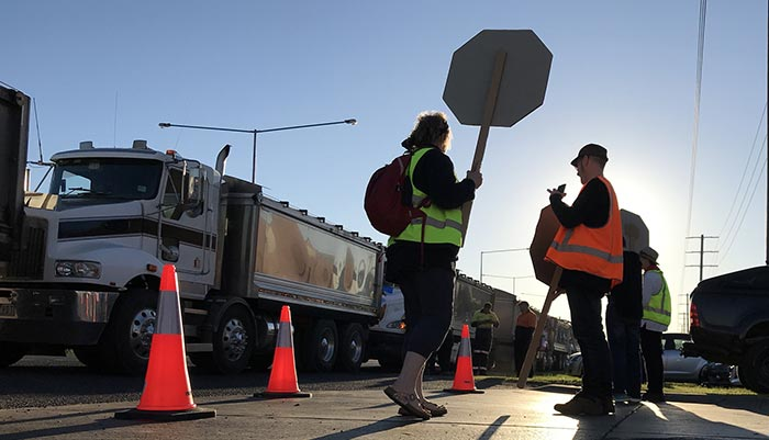 Drug testing in Victoria not necessary? Think again! A truck driver who took drugs behind the wheel has been condemned by Victoria Police and industry groups Credit Takver.